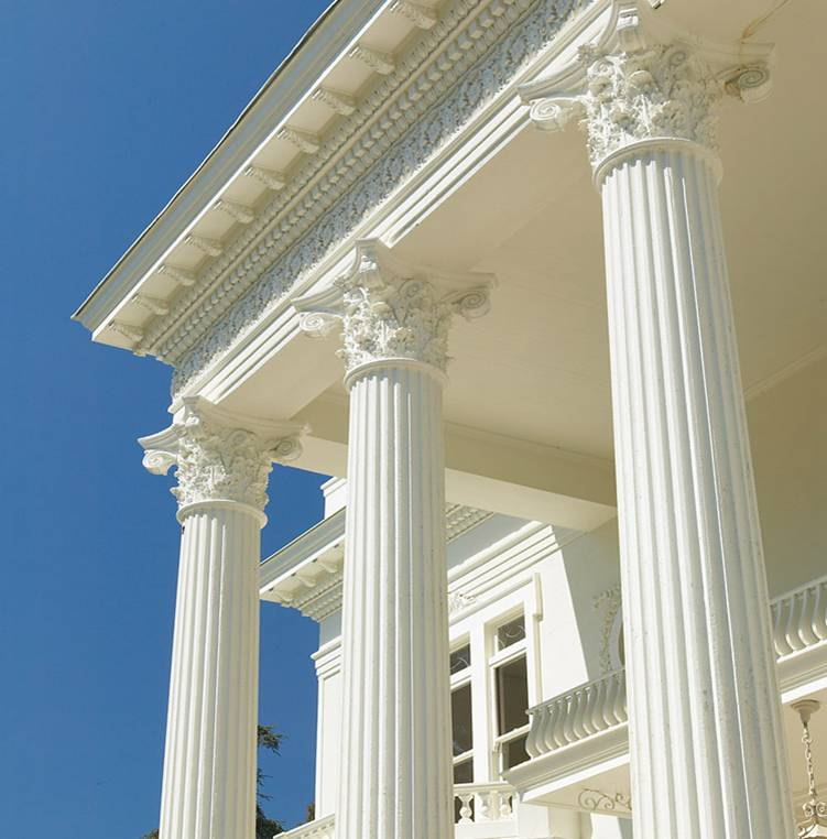 Magnolia Mansion Renovation - Column Detail After